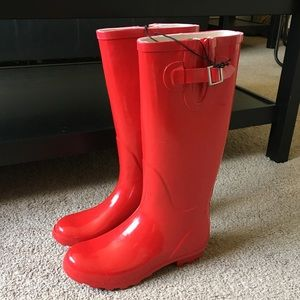 NWT Forever 21 Red Rain Boots